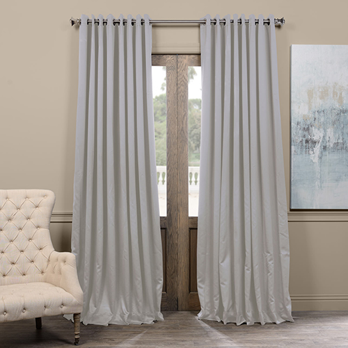 Rose Street Fog Grey 96 X 100 Inch Grommet Extrawide Blackout Curtain Single Panel