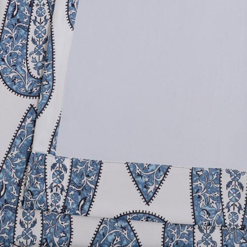 Rose Street Blue Large Medallion Blackout Curtain - SAMPLE SWATCH