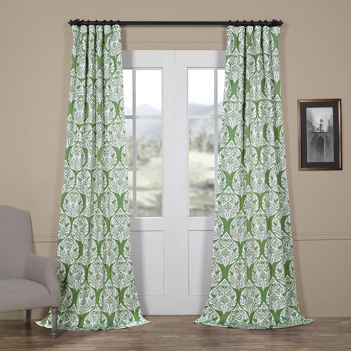 Medallion Green 84 x 50 In. Blackout Curtain Single Panel