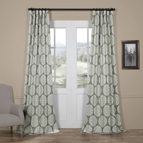Burst Grey 96 x 50 In. Blackout Curtain Single Panel