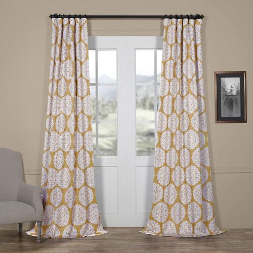Burst Gold 108 x 50 In. Blackout Curtain Single Panel