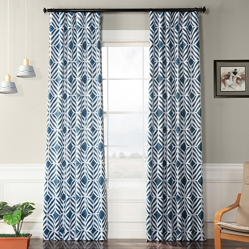 Blackout Rod Pocket Teal 50 x 108-Inch Curtain Single Panel