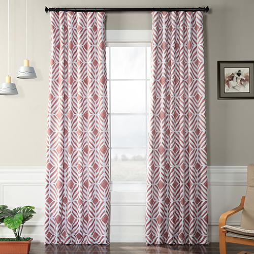 Blackout Rod Pocket Pink 50 x 108-Inch Curtain Single Panel