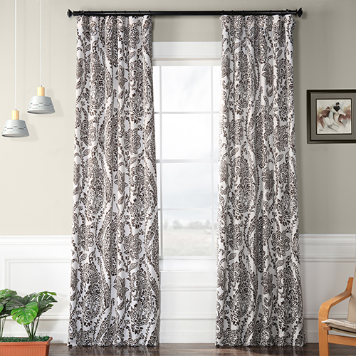 Blackout Rod Pocket Brown 50 x 108-Inch Curtain Single Panel