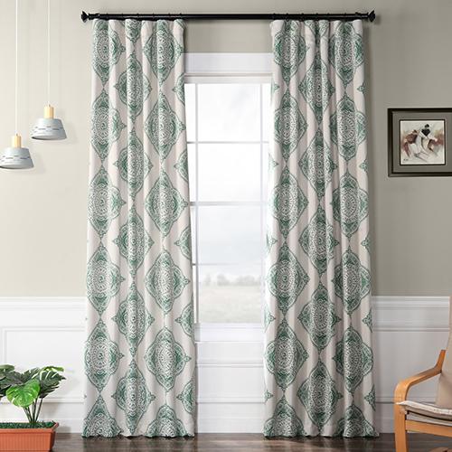 Blackout Rod Pocket Green 50 x 108-Inch Curtain Single Panel