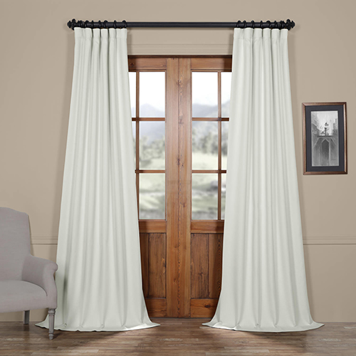 Smokey Cream 120 x 50-Inch Blackout Curtain Panel Pair