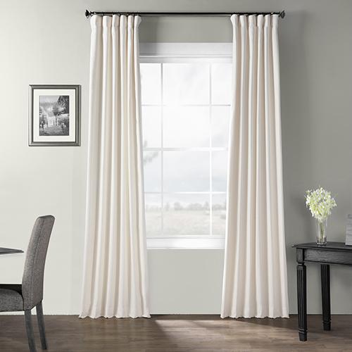 Bark Weave Rod Pocket Ivory 50 x 120-Inch Curtain Single Panel