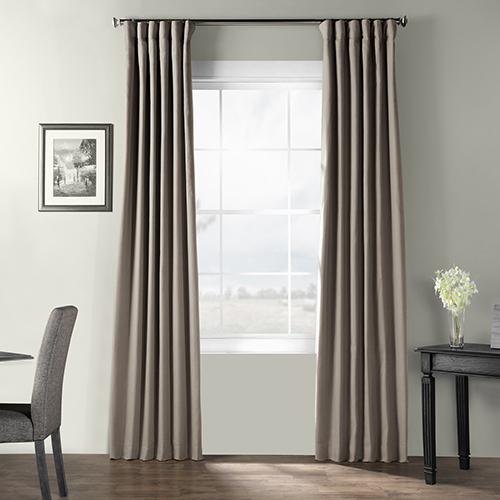 Bark Weave Rod Pocket Gray 50 x 96-Inch Curtain Single Panel