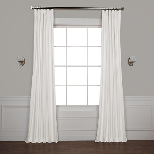 Whisper White 96 x 50-Inch Solid Cotton Blackout Curtain Single Panel