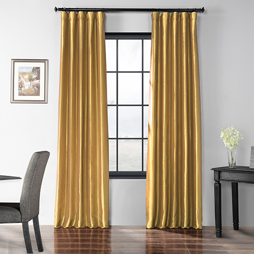 Faux Silk Taffeta Curtain Single Panel