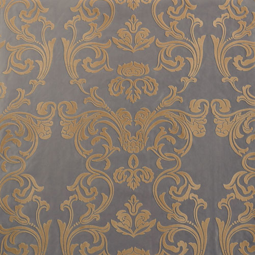 Rose Street Damask Silver and Gold Faux Silk - SAMPLE SWATCH ONLY