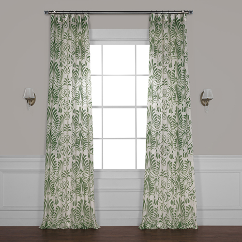 Cotton Seed 120 x 50-Inch Solid Faux Linen Sheer Curtain Single Panel