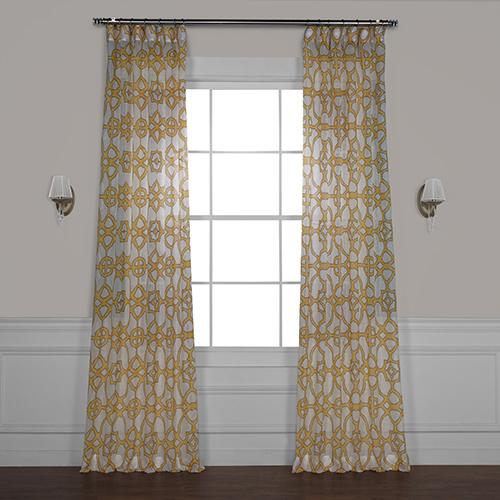 Printed Sheer Curtain Single Panel