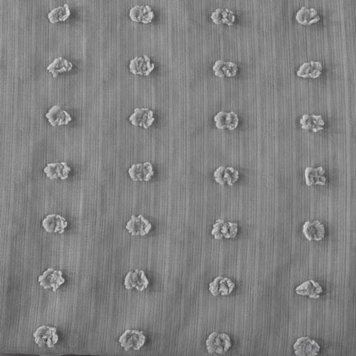 Strasbourg Dot Grey Patterned Linen Sheer - SAMPLE SWATCH ONLY