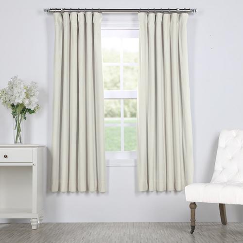 Porcelain White 63 x 50 In. Signature Blackout Velvet Curtain Single Panel