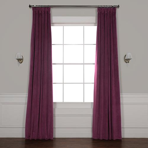 Cabernet 96 x 50-Inch Signature Blackout Velvet Curtain Single Panel