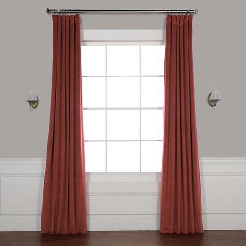 Crimson Rust 96 x 50-Inch Signature Blackout Velvet Curtain Single Panel