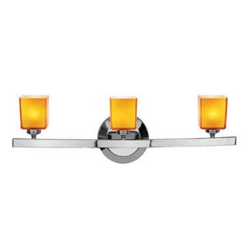 Access Lighting Sydney Chrome Three-Light Vanity with Hermes Amber Glass