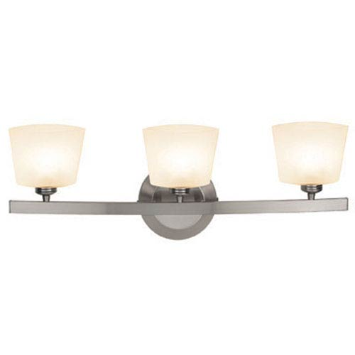 Sydney Matte Chrome Three-Light Vanity with Opal Thea Glass