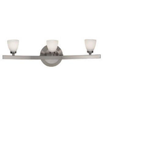 Access Lighting Sydney Matte Chrome Three-Light Vanity with Opal Cone Glass