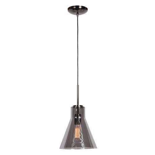 Access Lighting Simplicite Black Chrome 9-Inch One-Light Cone Mini Pendant