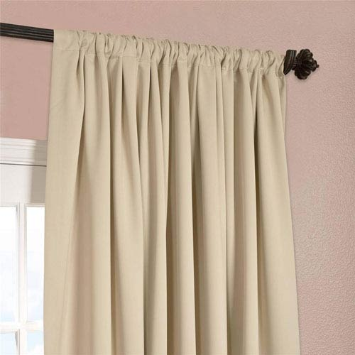 half price drapes stone 108 x 100 inch double wide blackout curtain single panel boch 120601 108. Black Bedroom Furniture Sets. Home Design Ideas