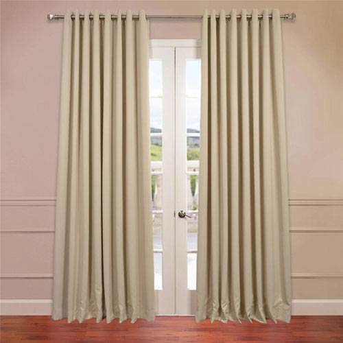 Half Price D Stone 120 X 100 Inch Double Wide Grommet Blackout Curtain Single Panel