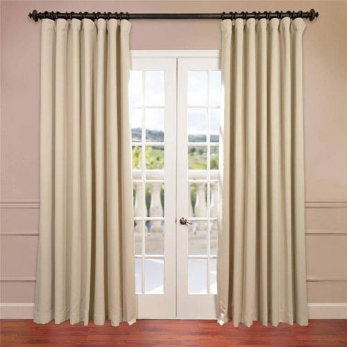 Half Price Drapes Stone 84 x 100-Inch Double Wide Blackout Curtain Single Panel