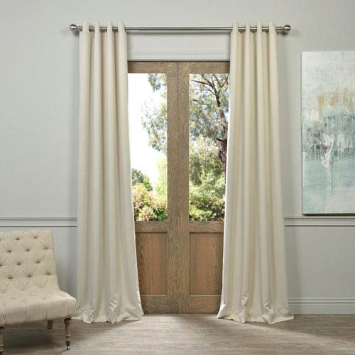 Half Price Drapes Egg Nog Grommet Other 50 x 84-Inch Blackout Curtain Pair 2 Panel