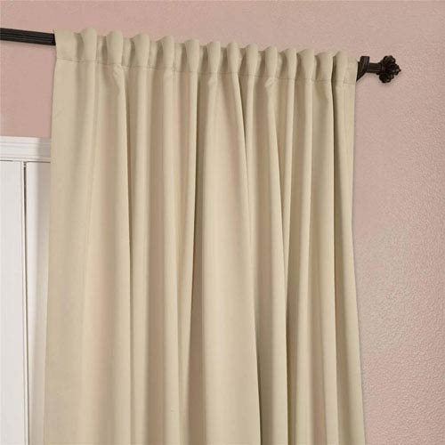 half price drapes stone 96 x 100 inch double wide blackout curtain single panel boch 120601 96. Black Bedroom Furniture Sets. Home Design Ideas