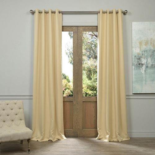 Biscotti Beige 108-Inch Blackout Curtain Pair 2 Panel