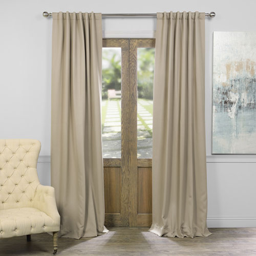 Selby Classic Taupe 96 x 50-Inch Blackout Curtain Panel Pair
