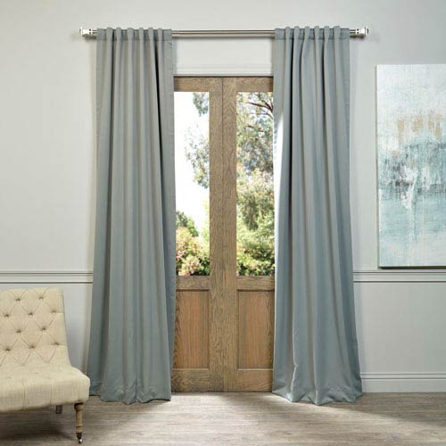 Half Price Drapes Neutral Grey 50 x 108-Inch Blackout Curtain Pair 2 Panel