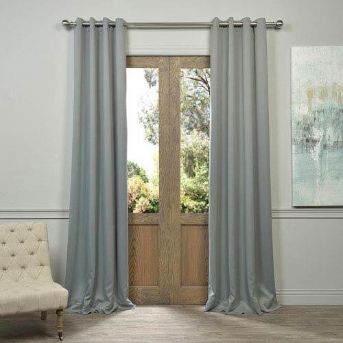 Half Price Drapes Grommet Grey 50 x 84-Inch Blackout Curtain Pair 2 Panel