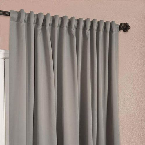 half price drapes grey 96 x 100 inch double wide blackout curtain single panel boch 174402 96 dw. Black Bedroom Furniture Sets. Home Design Ideas