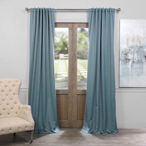 Half Price D Dragonfly Teal 50 X 108 Inch Blackout Curtain