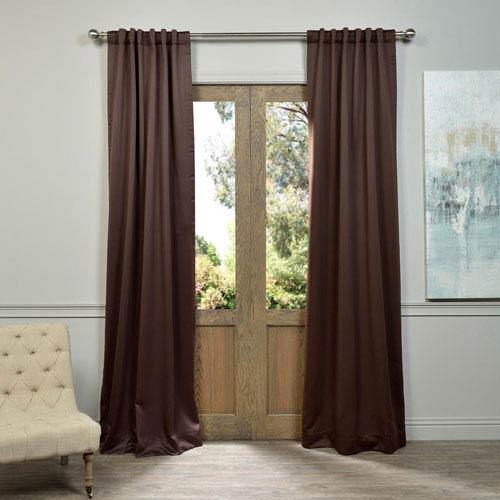 Half Price Drapes Java Brown 50 x 120-Inch Blackout Curtain Pair 2 Panel