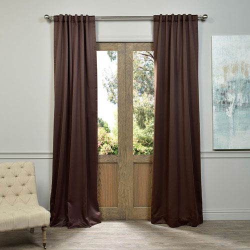 Java Brown 50 x 96-Inch Blackout Curtain Pair 2 Panel