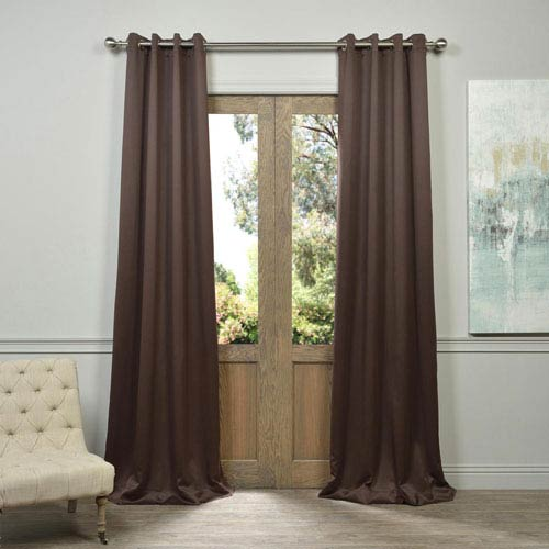 Half Price Drapes Java Brown 96-Inch Blackout Curtain Pair 2 Panel