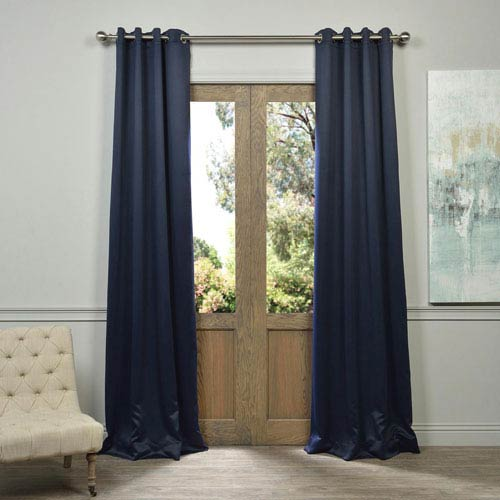 Half Price D Eclipse Navy 108 Inch Blackout Curtain Pair 2 Panel