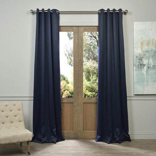 Half Price D Eclipse Navy 96 Inch Blackout Curtain Pair 2 Panel