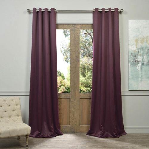 Half Price Drapes Aubergine Purple 120-Inch Blackout Curtain Pair 2 Panel