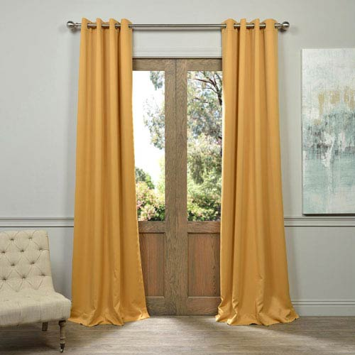 Marigold Yellow 120-Inch Blackout Curtain Pair 2 Panel