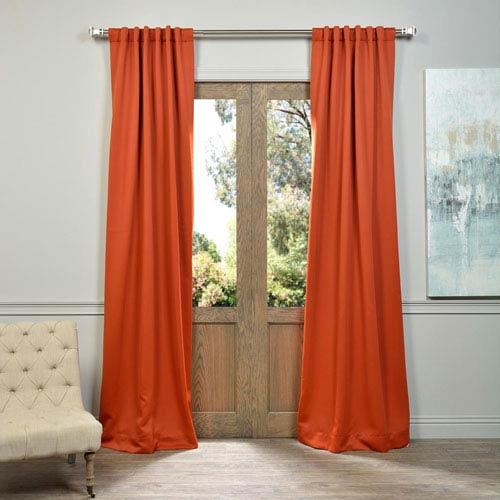 Blaze Orange 50 x 96-Inch Blackout Curtain Pair 2 Panel