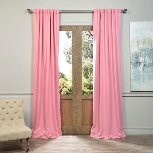 Half Price Drapes Precious Pink 50 x 108-Inch Blackout Curtain Pair 2 Panel