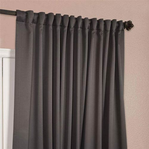 half price drapes charcoal 108 x 100 inch double wide blackout curtain single panel boch 201403. Black Bedroom Furniture Sets. Home Design Ideas