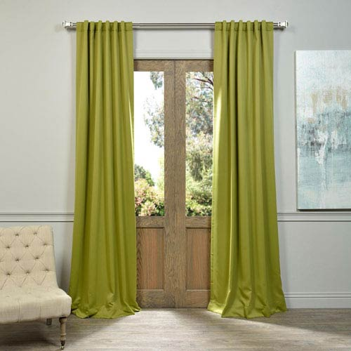 Half Price Drapes Green 108 x 50-Inch Blackout Curtain Panel Pair