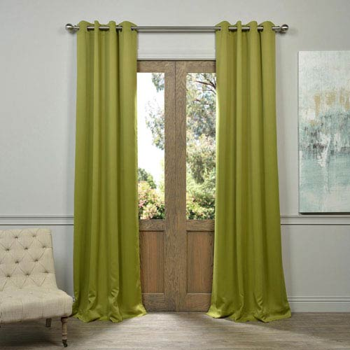 Green 96 x 50-Inch Grommet Blackout Curtain Panel Pair