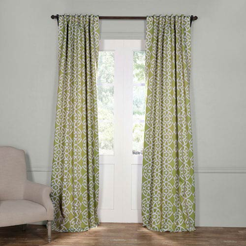 Half Price Drapes Secret Garden Leaf Green 108 x 50-Inch Blackout Curtain