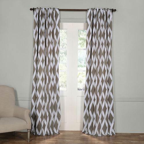 Half Price Drapes Crosshatch Gray 96 x 50-Inch Blackout Curtain